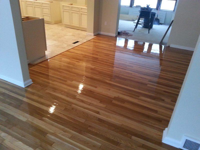 a resurfaced wood floor in columbus
