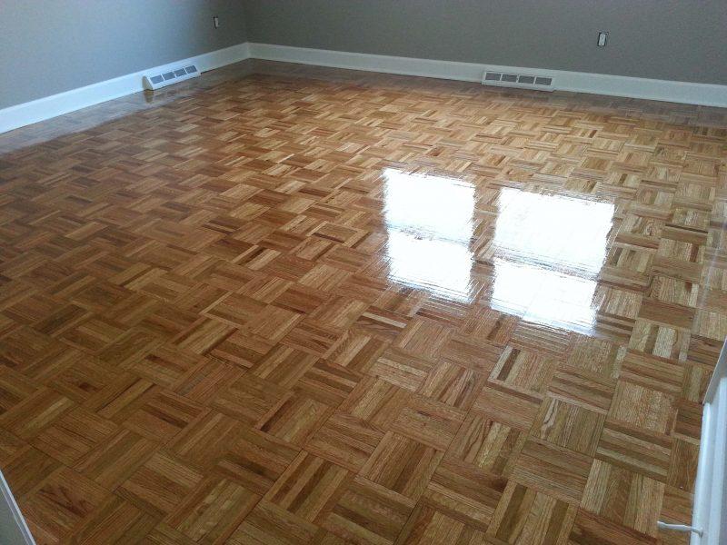 Parquet hardwood floor refinishing in columbus