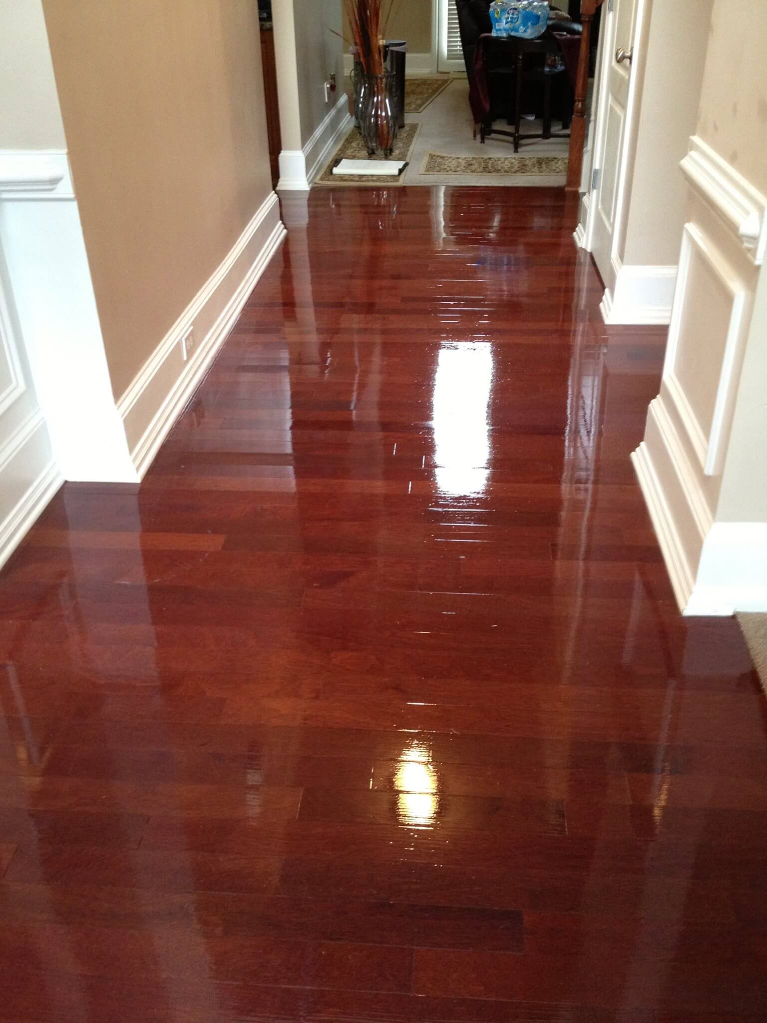 a refinished hardwood floor in worthington, oh