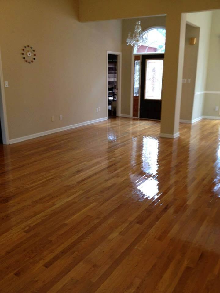 a resurfaced hardwood floor in Dublin