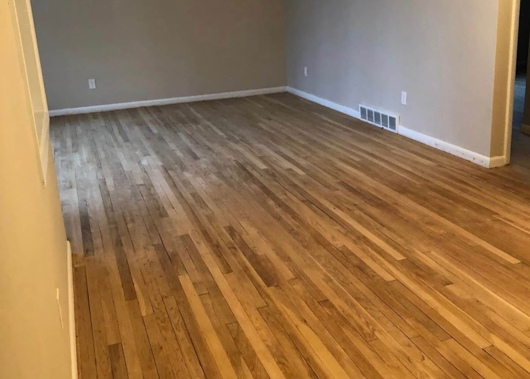 damaged wood flooring surface