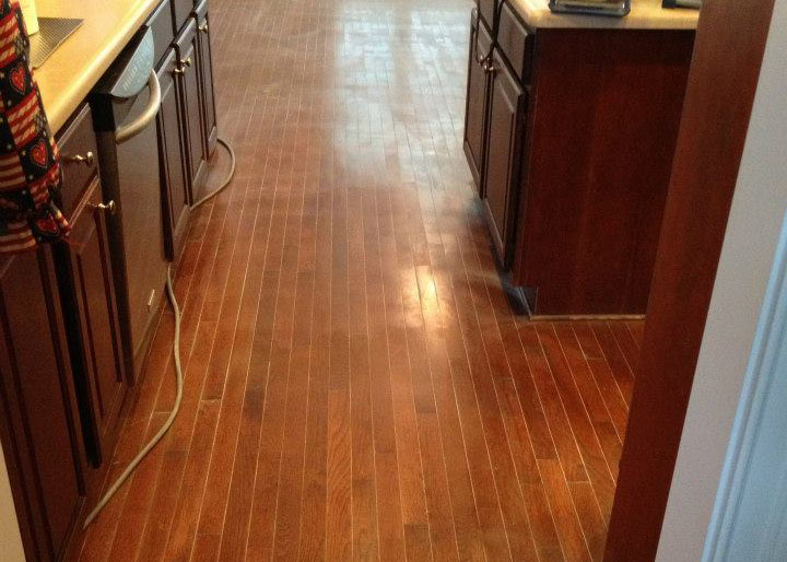 Damaged hardwood floor
