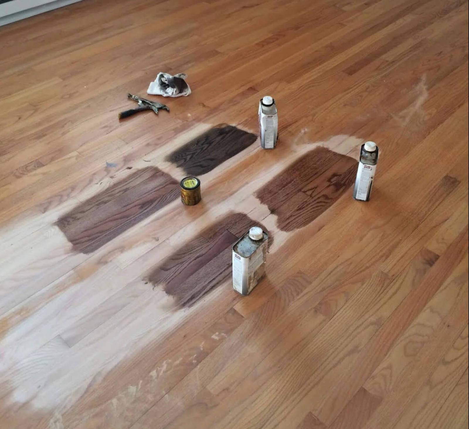 Hardwood floor staining in Columbus, OH