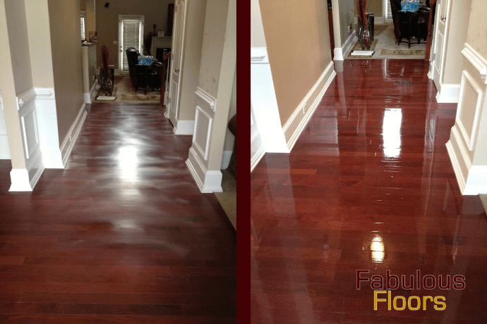 before and after hardwood floor refinishing in reynoldsburg, oh