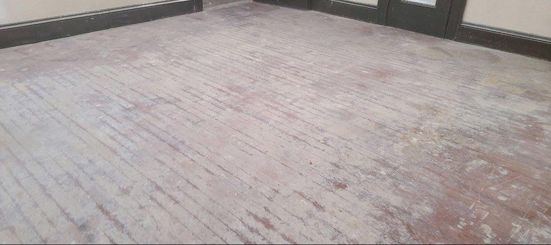a damaged hardwood floor