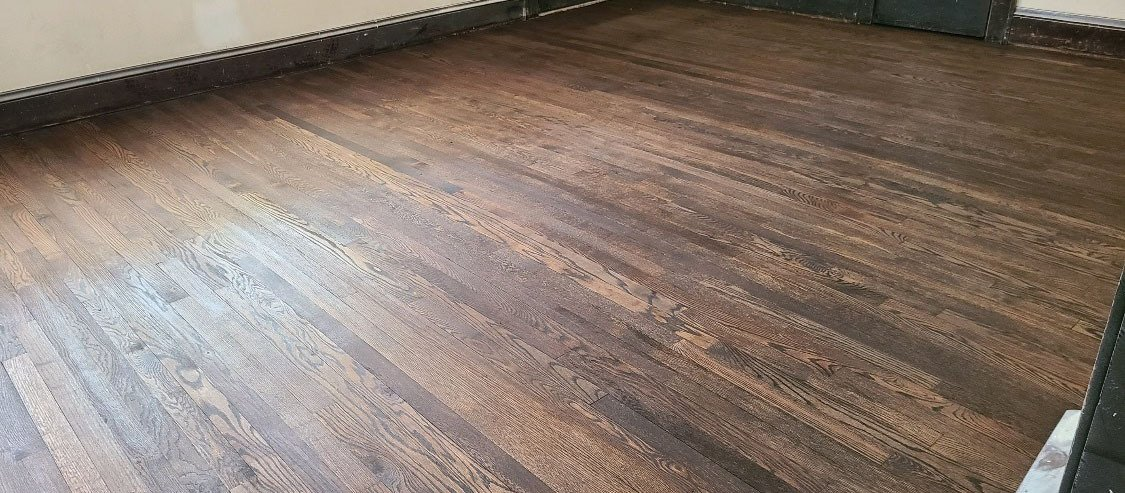 a refinished hardwood floor in columbus
